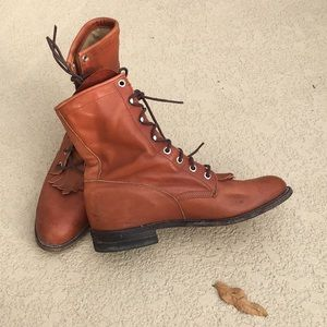 Justin genuine leather boots 8  8 1/2
